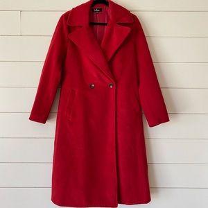 Lulu's Jackets & Coats - Red Brushed Wool Coat